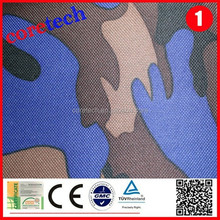 Blue breathable camo waterproof fabric factory
