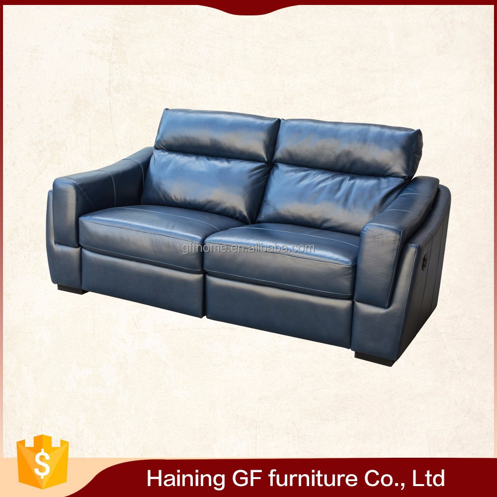 china export chesterfield elegant blue cheap Leather sofa
