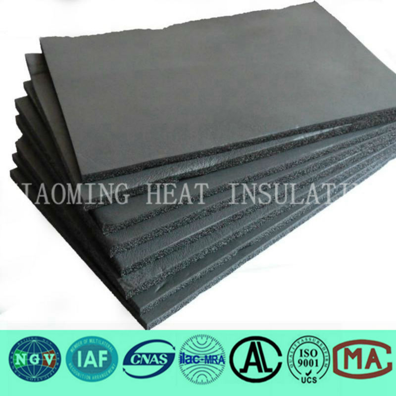 NBR/PVC acoustic absorption coefficients rubber foam sheet