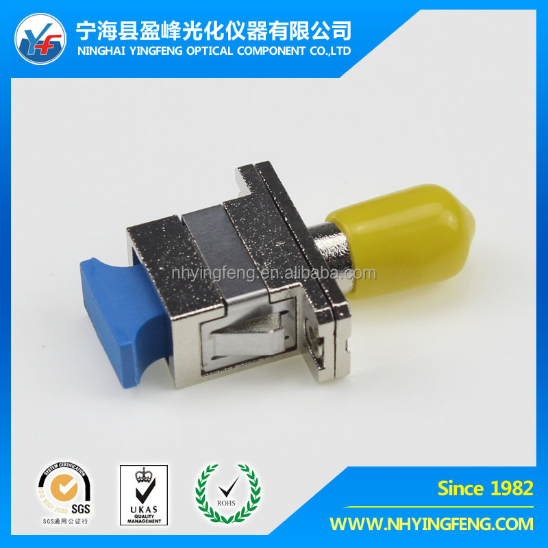 Hot 2016 best price high quality network marketing alibaba wholesale SC-ST SM SX Male famale Yellow fiber optic Hybrid Adapter