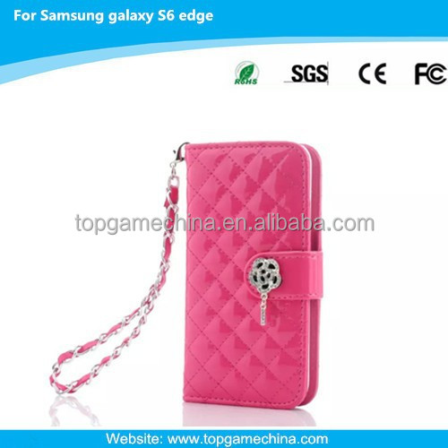 Lady Purse for Samsung galaxy s6 edge leather case