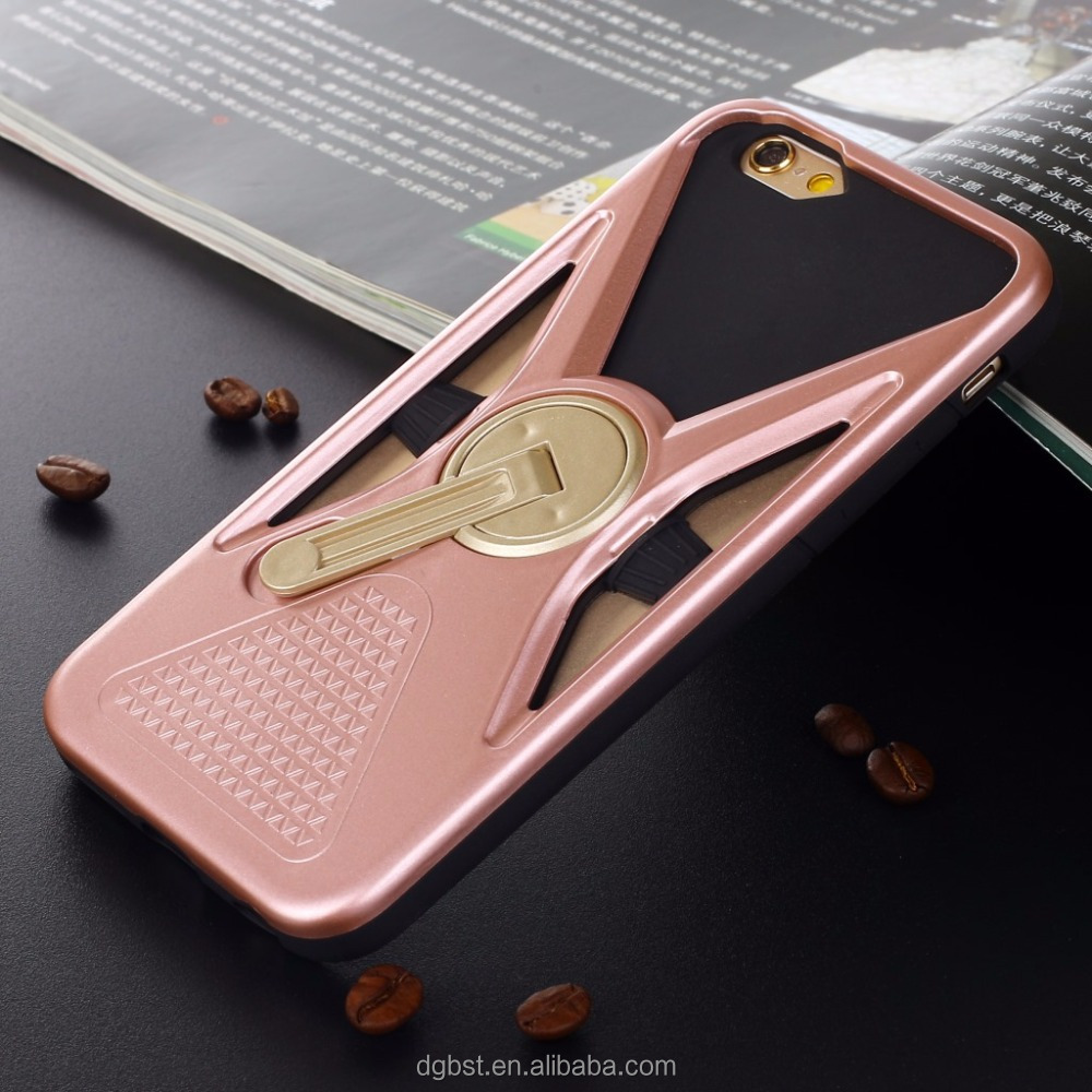 New Arrival 360 Degrees Rotating Mobile Phone Stent Case For iphone Samsung All Universal Mobile Phone Stand Case