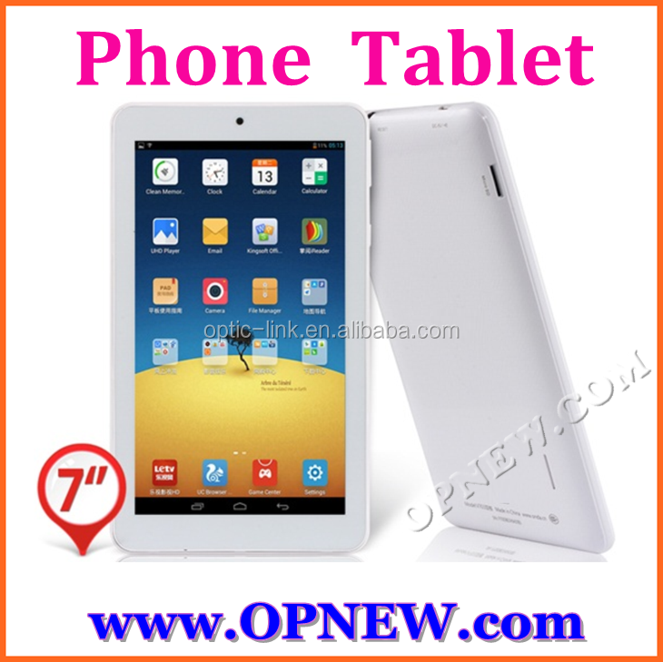 "Opnew new arrival 7"" phablet GSM phone tablet pc MTK 6582 phone mini pc 4 bands 3G calling"