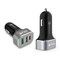 Quick Charge 3.0 Car Charger 45W 3 USB Aluminium Rohs Private Moulding