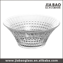 Large clear crystal glass dessert bowl fruit glassware high-white glass salad Bowl