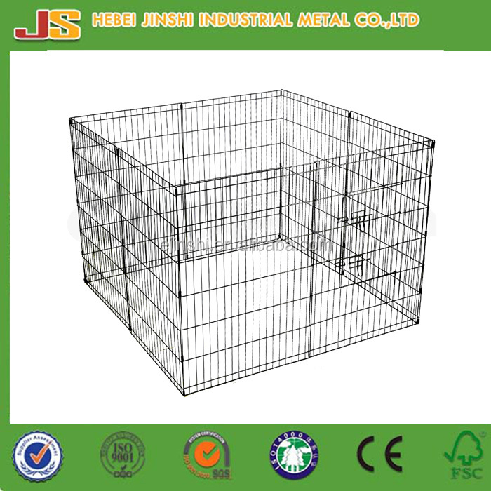 8 Panels Set Crate Mesh Fence Puppy Dog Kennel/ Puppy Dog Playpen