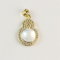 China Online Fashion Pearl Gold Fine Jewelry Wholesale Christmas Pendant Necklace