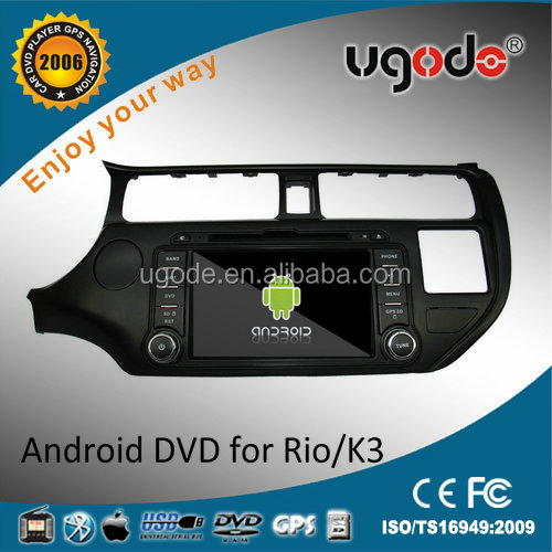 China factory HD touch screen 2 din car radio with navigation for Kia K3 /Rio accessories 2012/ 2013 /2014 3G wifi