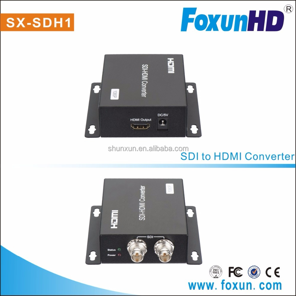 SDI to HDMi Converter,Mini 3G SDI HDMi Adapter - Full HD 1080P SDI to HDMI Video Audio Converter