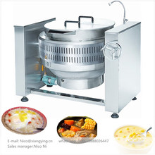 XYGT-H100 Gas bone soup cooking pot 100L food boiling machine big tilting sauce kettle boiler for restaurant kitchen
