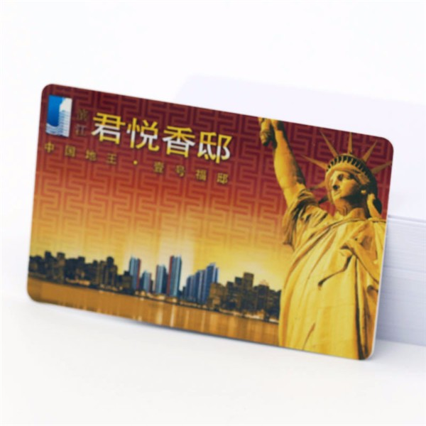 China Supplier Hologram Membership Tranparent PVC business card