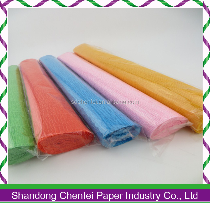Wholesale Custom Design Crepe Paper Florist Paper Wrapping Paper