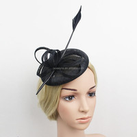 New Arrival Halloween Decorative Sinamay Base Fascinator Hat With Clip