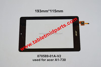 7 inch Tablet PC Digitizer Touch Screen Panel Replacement part-070589-01A-V2 used for acer A1-730