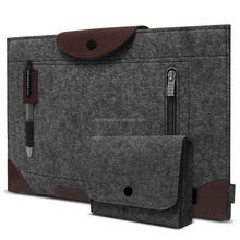 Felt Tablet Protective Case Pouch Bag with Charger Case