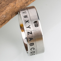 New design Bible Words Engraved 316L Stainless Steel finger ring