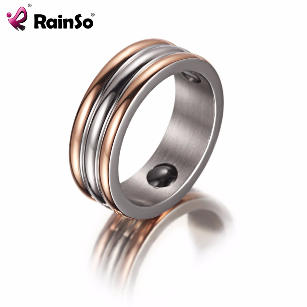 Trendy Stainless Steel Energy Power Magnetic Couple Finger Ring