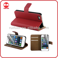 Wholesale Credit Card Slot Holder Folio Wallet Leather Case for iphone 5S 5G 5