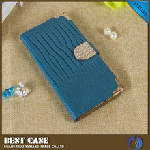 Bling Diamond Decorative Card Slot Holder Mobile Phone Case Leather Flip Wallet Case for iPhone 6 6plus