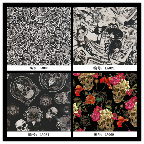 JETYOUNG Hydrographic Film Carbon Fibre Skull different Patterns Printing film Graphic film