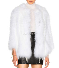 YRFUR Factory YR274A Luxury Genuine Raccoon Fur Jacket