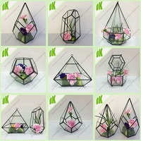 Garden decoration tansparent glass mini Flower Vases>> High Quality Mini geometric flower plastic tube vase