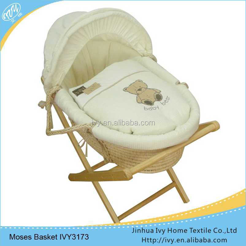 corn husk basket moses set wicker baby pram basket