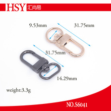 Gold small metal alloy snap hook for keychain