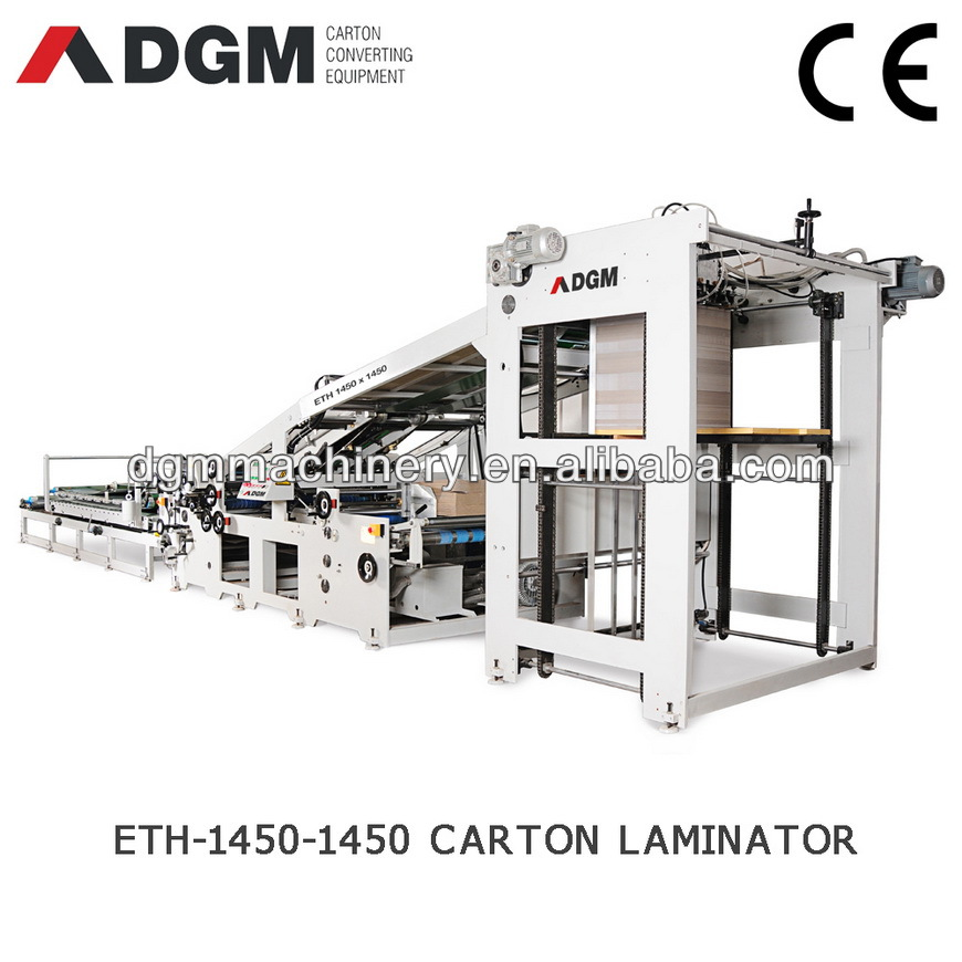 Automatic sheet to sheet cardboard laminating machine ETH1450-1450