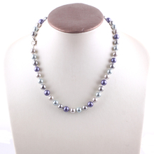 New Arrival Multicolor Shell Pearl Round Beads Beautiful Necklace