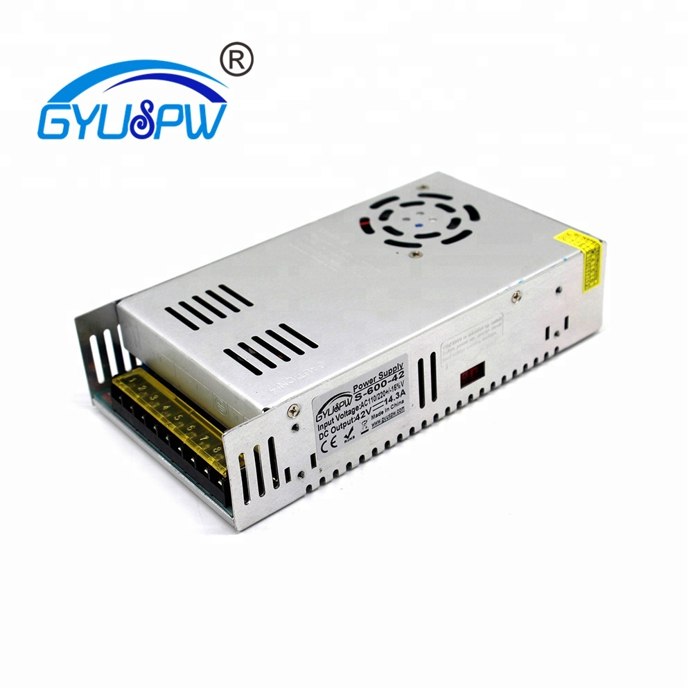 Best quality 42V 14.3A 600W Switching Power Supply Driver for CNC Stepper CCTV camera LED Strip AC 110 220V Input to DC 42V SMPS