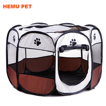 2017 hemu portable tent playpen dog cat exercise kennel cage crate folding pet fence