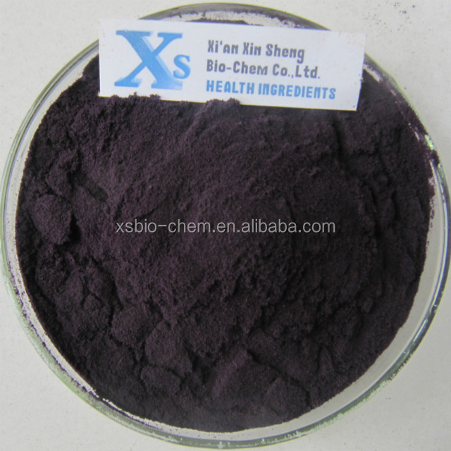 Natural High Quality Black Rice Extract /Purple Rice Extract anthocyanidins