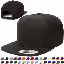 Wholesale yupoong hip pop cap 6 panel plain acrylic blank snapback hat