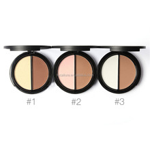 OEM manufacturer mineral two way compact pressed face powder palette makeup foundation