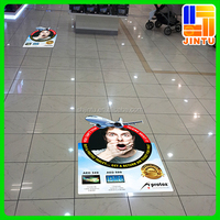 Printed Floor Vinyl Stickers , Die Cut Floor Decal Vinyl for Advertising