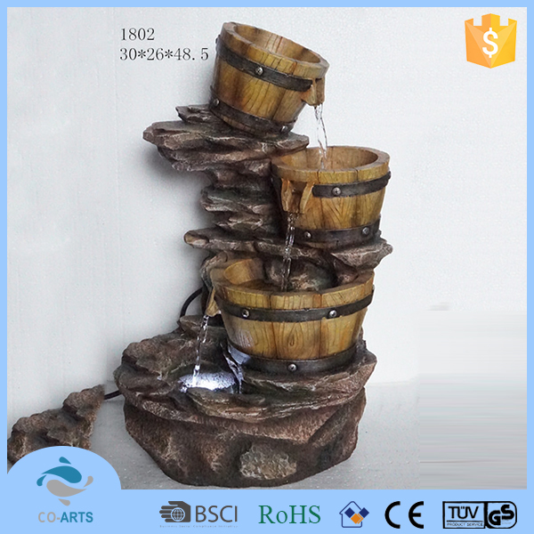 2015 Hot sale home decoration polyresin fountain water