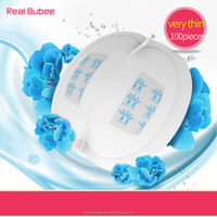 realbubee pregnancy care super large capacity wood pulp cotton breast pad feminine breathable disposable anti-galactorrhea pad