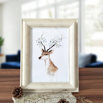 PS Photo Frame in Classical wooden looking for Wall Decoration