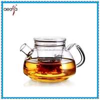 Hot sale home decoration clear glass tea pot candle for one set