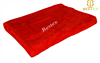 Luxury Dri Thick Hot Red Striped Dobby Terry velour custom beach towel softextile