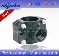 whole sell plastic pipe fittings pp compression fittings for PE pipe PP Saddle Clamp