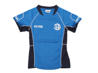 Polyester quick dry blue soccer team jersey