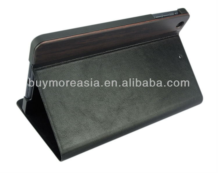 High quality leather wood wallet case for Ipad Air 2 good price