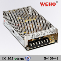high voltage CE ROHS certificated 150w 48v s-150-48 power supply