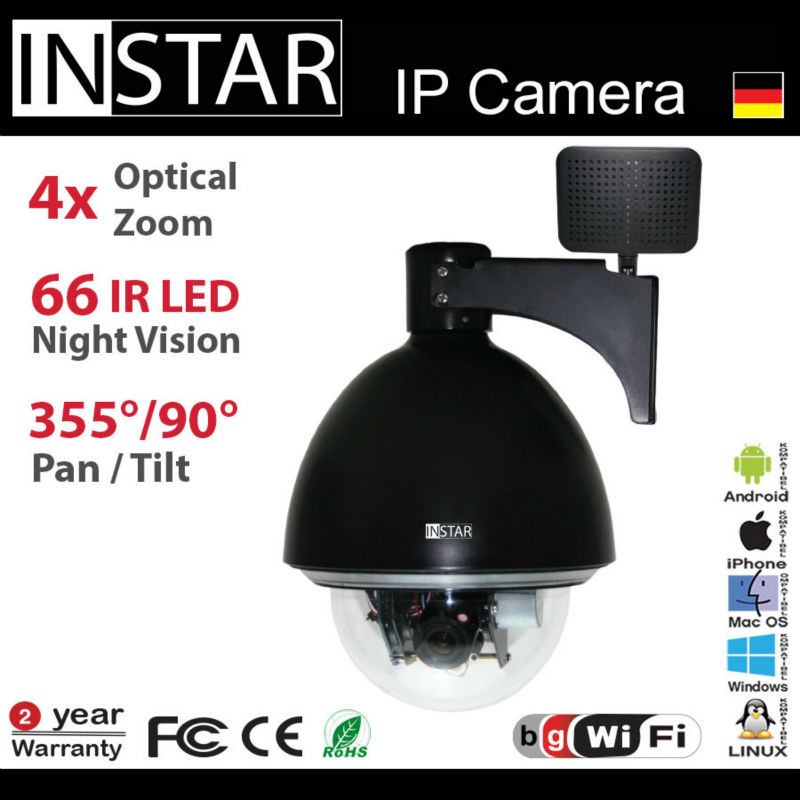 German PTZ WIFI Camera with free Apps for android,iPhone,windows phone devices