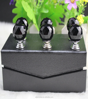 Factory directly sale yiwu hot seller excellent quality black color20pcs/lot 20mm crystal knob for decoration gift