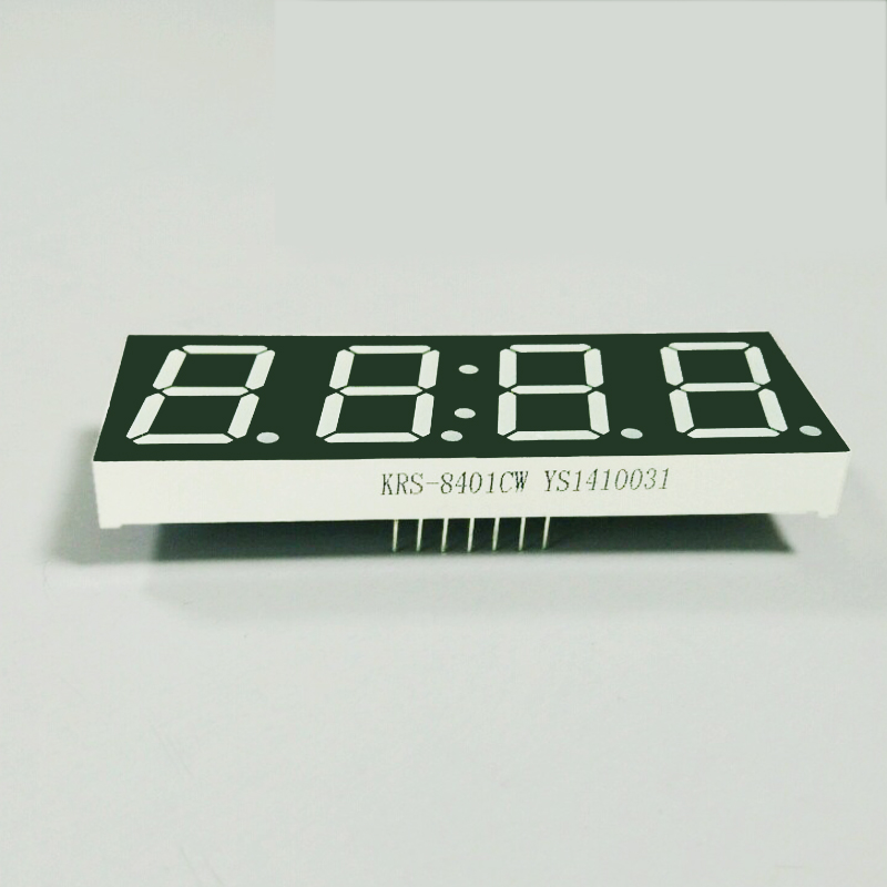 OEM approval full color 4 digits led wall clock numerical 7 segment display