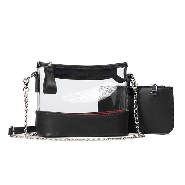 Sleek Clear Purse Women's Cross-body Bag PVC Messenger Bag for Lady