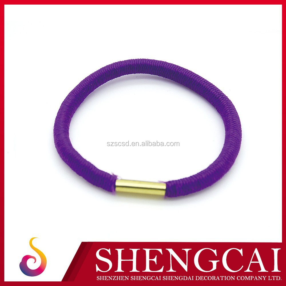 strong texture spiral round elastic cord 3mm for hair ties